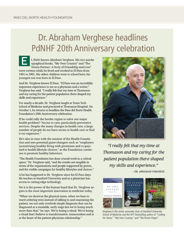 Dr  Verghese headlines PdNHF 20th Anniversary celebration - DIGIE