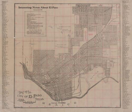 Map of the City of El Paso, Texas - DIGIE City Map Of El Paso Texas on