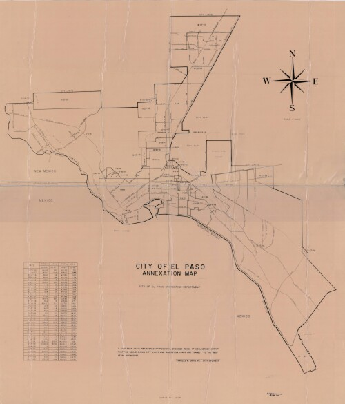 City of El Paso Annexation Map - DIGIE