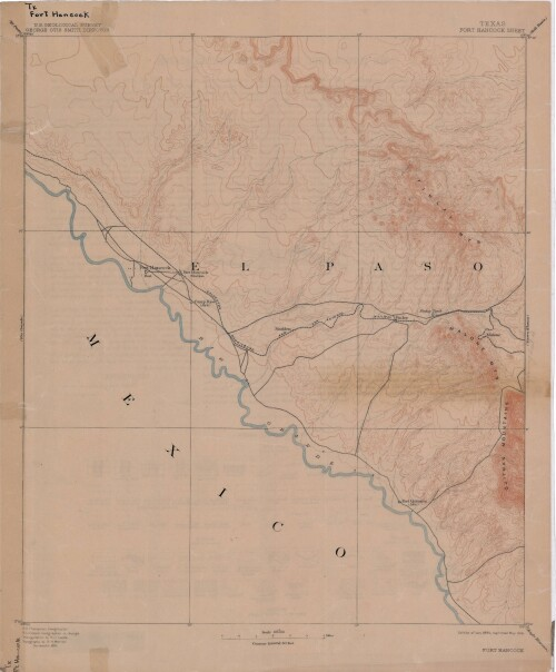 Map Of Texas 1915.Map Of Fort Hancock Texas Circa 1915 Digie