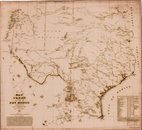 Map Of Texas New Mexico.Map Of Texas And Part Of New Mexico Digie